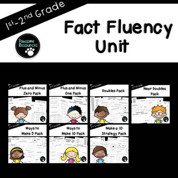 Math Fact Unit (over 250 editable items, Common Core aligned)