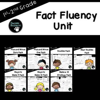 Math Fact Unit (over 250 editable items, Common Core aligned)