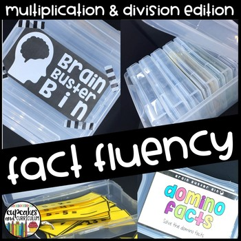 Fact Fluency Warm-Up Bins Multiplication and Division