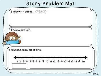 Fact Fluency Word Problems (3 Addends)-Pack 2 (First Grade, 1.OA.2)