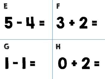 Fact Fluency Write the Room