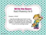 Fact Fluency Write the Room