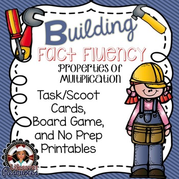 Fact Fluency Game and No Prep Printables - Properties of Multiplication
