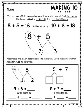Addition and Subtraction Strategies Math Fact Fluency Bundle