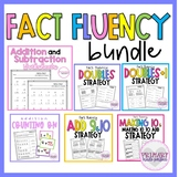 Addition Strategies Math Fact Fluency Bundle Distance Lear