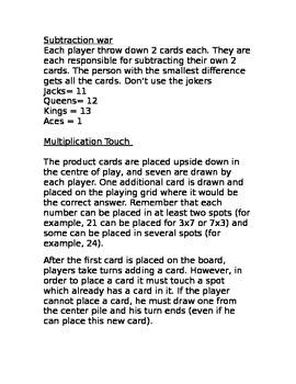 Fact Fluency games