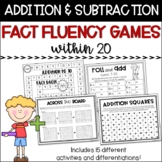 Addition and Subtraction Games within 20 - Fact Fluency Ac