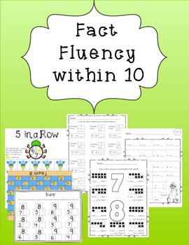 Math Facts Fluency within 10: mixed addition and subtraction practice