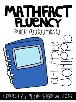 Fact Fluency: Addition Quick Assessments