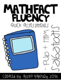Fact Fluency: Strategies with Addition and Subtraction Quick Assessments