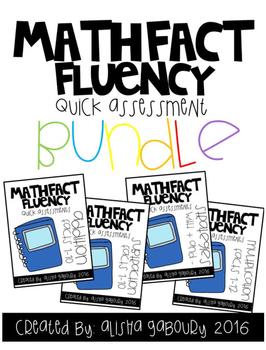 Fact Fluency: Quick Assessments Bundle