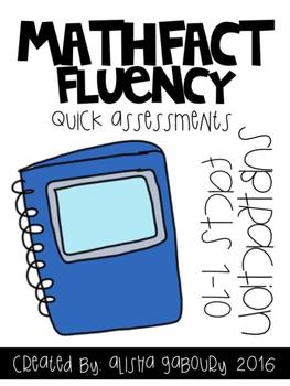 Fact Fluency: Subtraction Quick Assessments