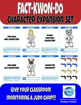 Fact-Kwon-Do Character Expansion - Classroom Monitoring & Bulletin Board Set