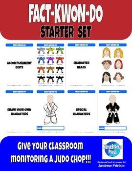 Fact-Kwon-Do Starter Set - Classroom Monitoring System & Bulletin Board Idea
