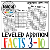 Fact Master: Numbers 3-10; breaking apart numbers, missing addends add bundle