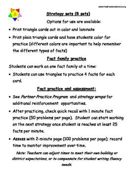 Fact Master addition fact practice program
