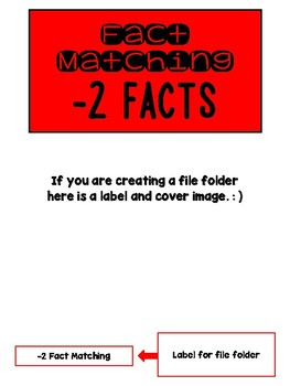 Fact Memory/File Folder Activity: -2