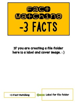 Fact Memory/File Folder Activity: -3