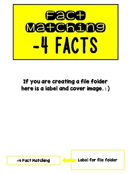 Fact Memory/File Folder Activity: -4