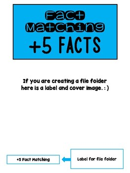 Fact Memory/File Folder Activity: +5 FACTS