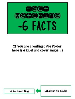 Fact Memory/File Folder Activity: -6