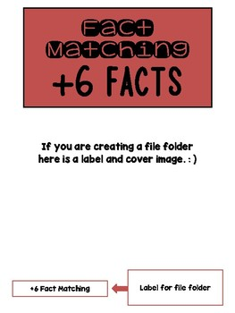 Fact Memory/File Folder Activity: +6 FACTS