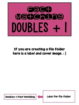 Fact Memory/File Folder Activity: DOUBLES + 1