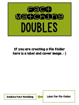 Fact Memory/File Folder Activity: DOUBLES FACTS