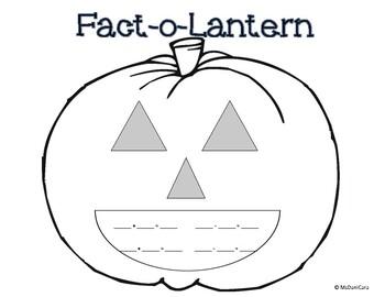 Fact-O-Lantern Pumpkin Fact Family / Related Facts