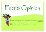 Fact & Opinion - 54 Differentiated Cards with Assessments!
