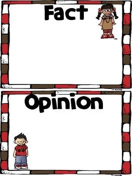 Fact & Opinion ~ A Center Activity
