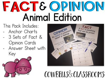 Fact & Opinion Card: Animal Edition