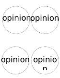 Fact/Opinion Circles