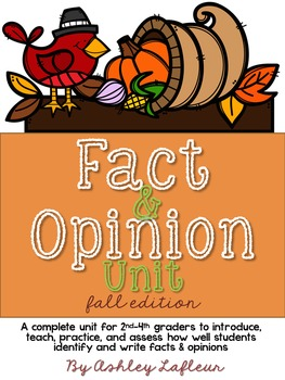 Fact & Opinion (Fall Edition) Activities