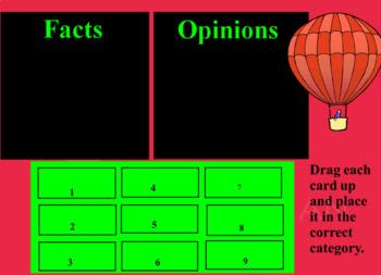 Fact & Opinion Flipchart
