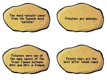 Fact & Opinion Game {{Hot Potato}}
