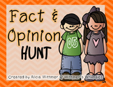 Fact & Opinion HUNT {Task Card Set}