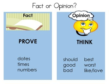 Fact Opinion Key Word Visuals