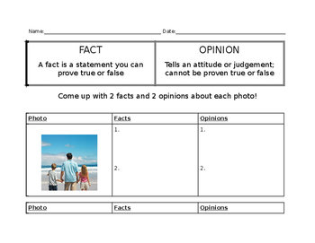 Fact & Opinion Lesson