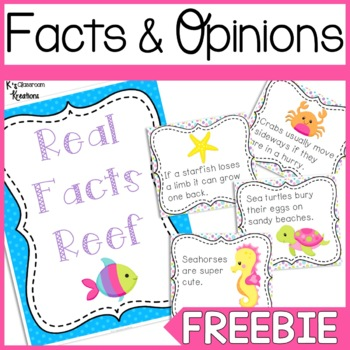 Fact and Opinion Sort Freebie