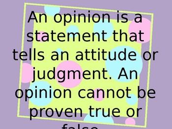 Fact & Opinion PowerPoint