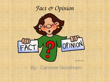 Fact & Opinion PowerPoint with Interactive Notes