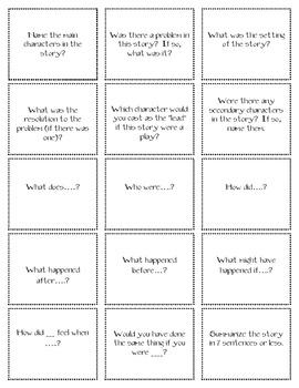 Comprehension Flash Cards