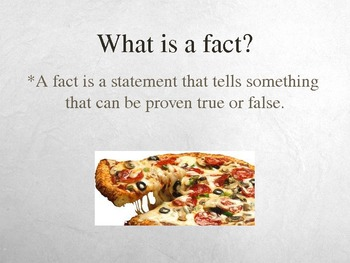 Fact & Opinion Powerpoint Presentation