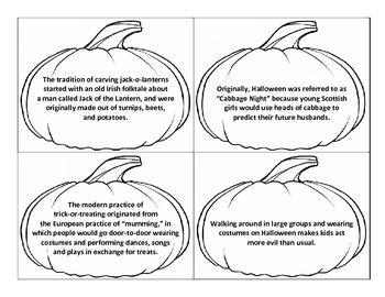 Fact Opinion Pumpkin Toss