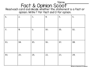 Fact & Opinion Scoot