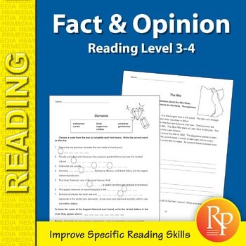 Fact & Opinion: Specific Reading Skills Activities