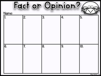 Fact Or Opinion Interactive PowerPoint~ Penguins