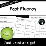 Fact Fluency Pages (Kindergarten-K.OA.5)