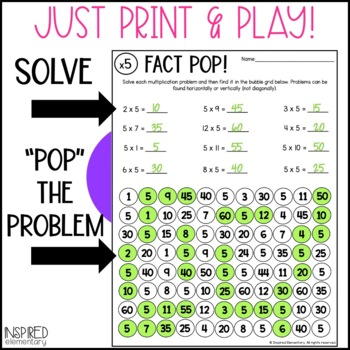 Multiplication Fact Pop: Multiplication Facts Practice to 12